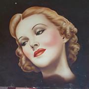 1930  Airbrush Art Lady