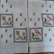 Floral Hand Embroidered Guest Towels