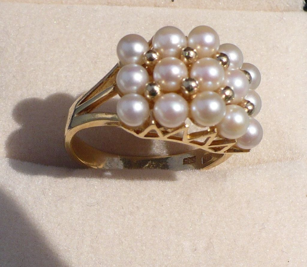 14K Cultured Pearl Ring