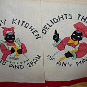 Vintage Black Americana Chef & Mammy Towels