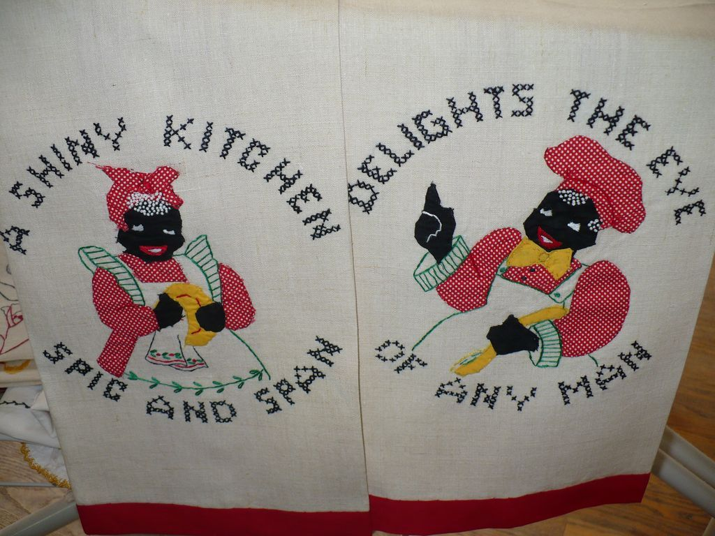 Vintage Black Americana Chef & Mammy Towels
