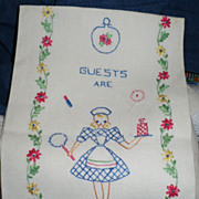 Hand Embroidered Guest Towel