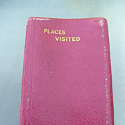 1928 Places Visited Journal & Map