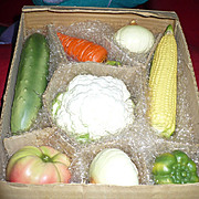 Ceramic Lifelike Vegetable Set by Enesco