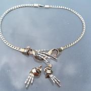 SALE Trifari Rhinestone Necklace & Earrings