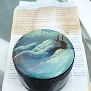 Russian Lacquer Box Boat Waves