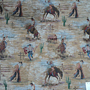 Tapestry Cowboy Fabric