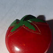 Bakelite Tomato Button
