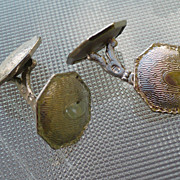 Sterling Cufflinks Deco