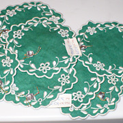 Maderia Doillies Coasters 10 Embroidered Eyelet