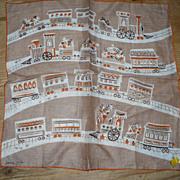 Jeanne Miller Train Handkerchief