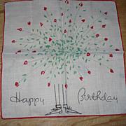 SALE Dessin Depose Happy Birthday Handkerchief