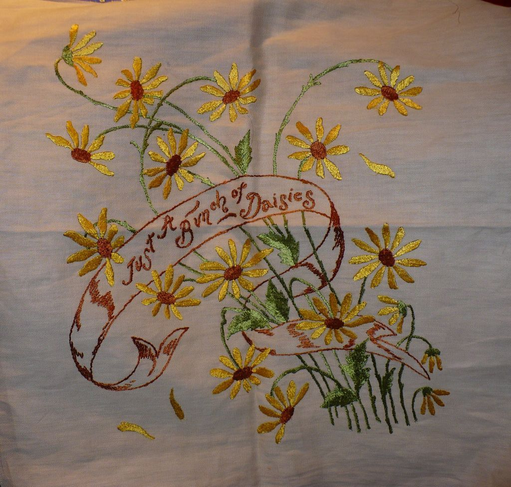 Bunch of Daisies Embroidered Piece