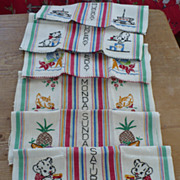 Days of the Week Embroidered Dish Towels