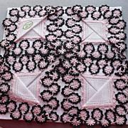 Irish Linen Hand Tatted Handkerchief