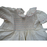 Vintage Child's Smocked Dress Italy