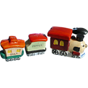 Four Piece Train Salt Pepper Condiment Set