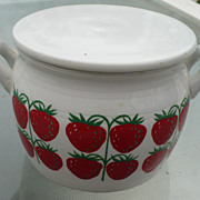Arabia Covered Strawberry Jar