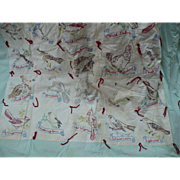 Embroidered State Birds Quilt