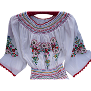 Matyo Embroidered Dress Hungarian