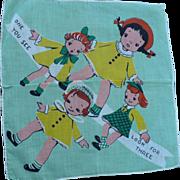 Triplets  Child's Handkerchief