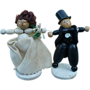 Wedding Bride Groom Wood Cake Toppers