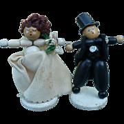 Wedding Bride Groom Wood Cake Toppers