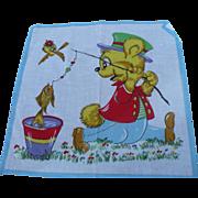 Fisherman Bear Child's Handkerchief