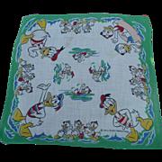 Donald Duck Nephews Handkerchief