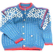 SOLD Child's Norwegian Sweater - Red Tag Sale Item