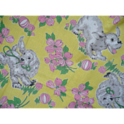 Puppy Flower Fabric 4+ yards