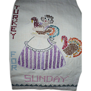 Sunday Embroidered Towel