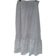 SALE Victorian Eyelet Slip Petticoat