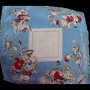 Elephants Playing Baseball Handkerchief