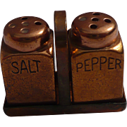 Tiny Brass Salt & Pepper Set