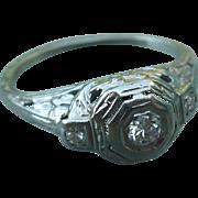 SALE Platinum Diamond Ring