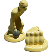 Man Bowling Salt &  Pepper