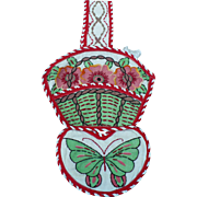 Embroidered Basket Hanging