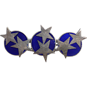 Magnussen Sterling Enamel Star Pin