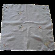 Poodle Applique Handkerchief