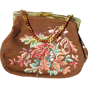 Autumn Leaves Needlepoint Purse