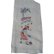 Lady Gardening Finger Towel