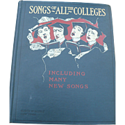 1900  College Songs Book