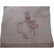Embroidered Mammy Towel