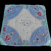 Monday Child's Handkerchief