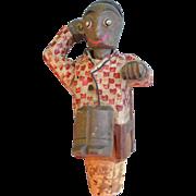 Carved Man Bottle Stopper