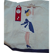 Applique Lady Towel