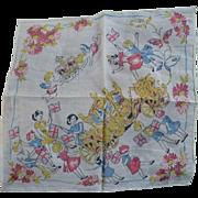 Queen Elizabeth Coronation Handkerchief