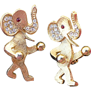 Goldtone Elephant Scatter Pins