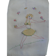 Naughty Embroidered Towel